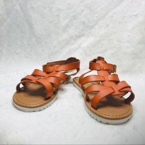 Cat & Jack Size 13 Cognac MYA Slide On Sandals